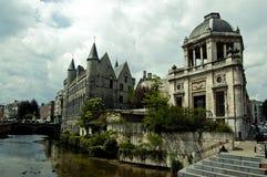 belgium streetview Ghent Obraz Stock