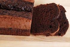 belgium tortowego czekoladowego ostrości bochenka slic odgórny widok Fotografia Royalty Free