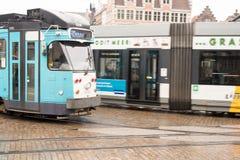Belgium Tram Stock Photo