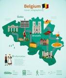 Belgium Travel Infographics Stock Photo