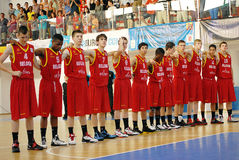 Belgium U16 basketball team Stock Images