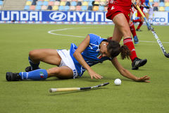 Belgium v Italy.Hockey European Cup Germany 2011 Royalty Free Stock Photos
