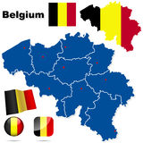 Belgium vector set. Stock Photos
