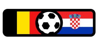 Belgium vs Croatia flags. Creative design of Belgium vs Croatia flags Royalty Free Stock Photos