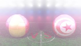 Belgium vs Tunisia, 2018 FIFA World Cup. Original 3D video. June 23, Belgium versus Tunisia 2018 FIFA World Cup. Original 3D video. Two balloons above a soccer stock video footage