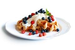 Belgium waffle Stock Photo