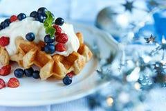 Belgium waffle Stock Images
