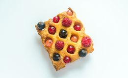 Belgium waffle with fresh berries Stock Images