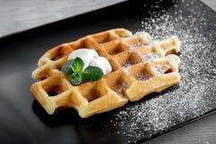 Belgium waffle Royalty Free Stock Photos