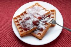 Belgium waffles Stock Photos
