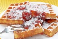 Belgium waffles Stock Photography