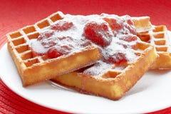 Belgium waffles Stock Images