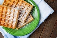 Belgium waffles Royalty Free Stock Photo