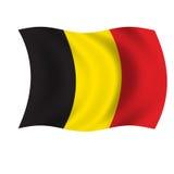 Belgium wave flag. White background on belgium wave flag Stock Photography