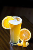 Belgium Wheat Ale With Orange Slice Royalty Free Stock Images