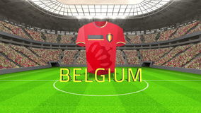 Belgium world cup message with jersey and text royalty free illustration