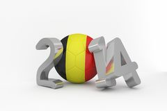 Belgium world cup 2014 Royalty Free Stock Photography