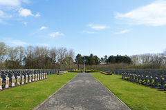 The Belgium world war one cemetery in the Depanne Stock Image