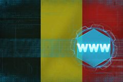 Belgium www (world wide web). Internet concept. Royalty Free Stock Photography