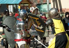 belgorod ο dnestrovsky ιππότης μεσαιωνικός εμφανίζει πρωταθλήματα Ουκρανία Στοκ εικόνες με δικαίωμα ελεύθερης χρήσης