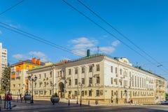 Belgorod, Ρωσία Προοπτική της δόξας Η οικοδόμηση με έναν υπόγειο θάλαμο αψίδων ενσωμάτωσε τη σοβιετική εποχή του Στάλιν Στοκ φωτογραφίες με δικαίωμα ελεύθερης χρήσης