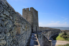 Belgorod-Dnestrov Akkerman Festung. Wand Lizenzfreies Stockfoto