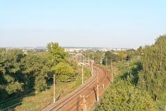 Belgorod. Railway ways Stock Images