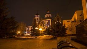 Belgorod, Rusia, el 27 de febrero de 2019 Catedral de Smolensk por la tarde imagen de archivo