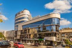 Business office center Montblanc. Street Prince Trubetskoy. Belgorod, Russia. Royalty Free Stock Image