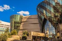 Belgorod, Russland Gebäude der philharmonischen Hallengesellschaft Belgorod-Zustandes Stockfotos