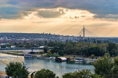 Belgrad-Brücken stockbilder