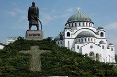 Belgrad Grenzsteine lizenzfreies stockbild