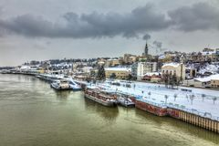 Belgrad im Winter Stockfotos