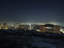 Belgrad-Nachtmagie stockfoto