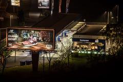Belgrad nachts Lizenzfreie Stockbilder