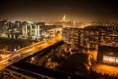 Belgrad nachts Lizenzfreie Stockfotografie