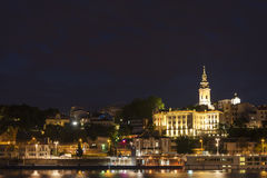 Belgrad, Serbia. Beautiful Nightview Of Belgrad, Serbia Royalty Free Stock Photography