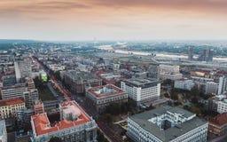 BELGRAD, SERBIEN am 22. Juli 2017, Belgrad-Skyline Lizenzfreie Stockfotografie