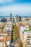 Belgrad, Serbien 11 09 2017 : Panorama von Belgrad genommen vom Tempel Heiligen Sava Lizenzfreie Stockbilder