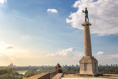 Belgrad Serbien Victor Monument auf Kalemegdan Lizenzfreie Stockbilder