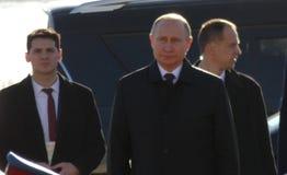 belgrad Serbii Styczeń 17th 2019 Prezydent federacja rosyjska, Vladimir Putin w oficjalnej wizycie Belgrade, Serbia obrazy stock