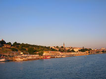Belgrad vom Fluss Stockfotografie