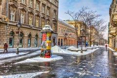 Belgrad-Winter knez Straße Stockbilder