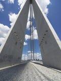 Belgrade. The Ada bridge (Serbian: Мост на Ади / Most na Adi) or alternatively Sava bridge is a cable-stayed bridge over the Sava river in Belgrade Stock Images