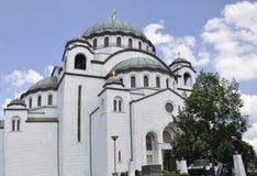 Belgrade Beograd, helgon Sava Cathedral Hram Svetog Save Arkivfoton