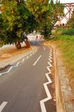 Belgrade, bicycle path along the river Stock Photos