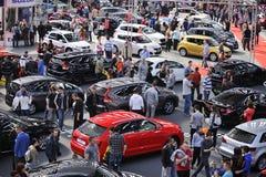 Belgrade bilshow Arkivfoton