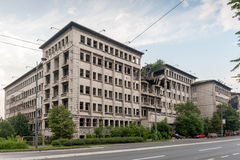 Belgrade bombed building Royalty Free Stock Photo
