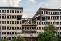 Belgrade bombed building Royalty Free Stock Photography