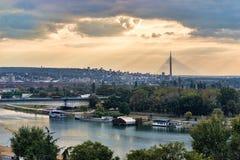 Belgrade broar arkivbilder
